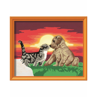 Раскраска по номерам Котенок и щенок Ravensburger (28381), фото 1