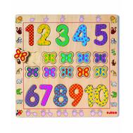 Рамка-вкладыш Djeco с цифрами от 1 до 10 (01801), фото 1