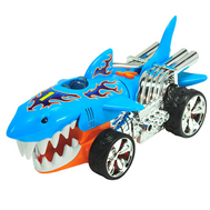 Машинка Hot Wheels на батарейках свет+звук электромех. акула голубая 23 см, фото 1