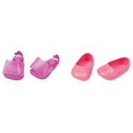 BABY born Ботиночки, 2 пары, сиреневые туфли, розовые балетки (822-159-1), фото 1
