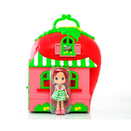 Игрушка Шарлотта Земляничка Набор Кукла 15 см с домом и аксессуарами, кор. (12267), фото 1