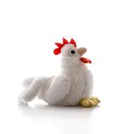 AURORA Игрушка мягкая Петушок белый 15 см, фото 1