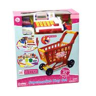Игрушка Boley продуктовая тележка с кассой и набором продуктов (44 предмета в наборе), фото 1