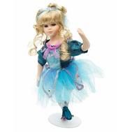 Кукла Angel Collection Балерина в голубом фарфор 14 дюймов (YF-140104), фото 1