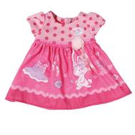 Одежда для куклы Бэби Бон, Платье  розовое - фиолетовое с цветочками, вешалка (822-111-2), фото 1