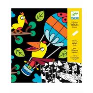 Бархатные раскраски Djeco Птицы (09621), фото 1