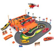 Игрушка игровой набор Гараж,  включает 3 машины и вертолет (96010), фото 1