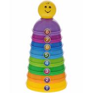 Пирамидка-конструктор ABtoys разноцветная в коробке (PT-00290), фото 1