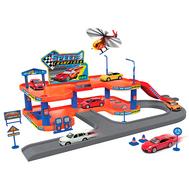 Игрушка игровой набор Гараж,  включает 4 машины и вертолет, фото 1