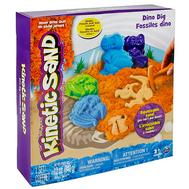 Песок для лепки Kinetic Sand. Игровой набор c формочками, 340 грамм динозавры (71415-dino), фото 1