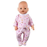 Набор одежды розовый, ползунки и кофта для куклы 38-43 см, фото 1