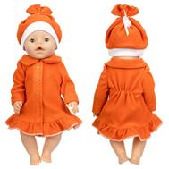 Пальто оранжевое из флиса для куклы Беби Бон 38-43 см, фото 1