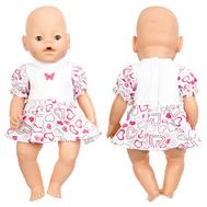 Платье с сердечками для куклы Беби Бон 38-43 см, фото 1