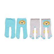 Колготки 2 шт. голубые-полосатые с львенком для куклы 38-46 см. Baby born, Baby Annabell (870-174-1), фото 1