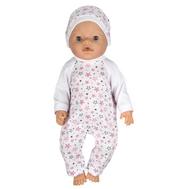 Комбинезон белый с рисунком и шапочкой для куклы Беби Бон 38-43 см, фото 1