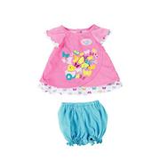 Туника с шортиками, бирюзовая-розовая для куклы Baby born  Бэби Бон (823-552-1), фото 1