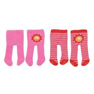 Колготки 2шт. красные-розовые с цветком для куклы 38-46 см. Baby born, Baby Annabell (870-174-3), фото 1