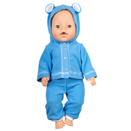 Набор одежды синий курточка с капюшоном, штанишки для куклы Беби Бон 38-43 см., фото 1