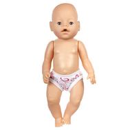 Трусики белые с рисунком для куклы Беби Бон 38-43 см., фото 1