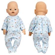 Пижама голубая для куклы 38-43 см., фото 1