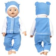 Набор одежды голубой куртка, штанишки, шапочка для куклы Беби Бон 38-43 см., фото 1
