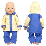 Набор №1 Демисезонный одежды сине-желтый, куртка с капюшоном, штанишки для куклы Беби Бон 38-43 см., фото 1