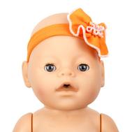 Повязка на голову оранжевая для куклы Беби Бон 38-43 см., фото 1