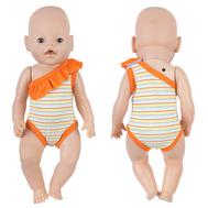 Купальник оранжевый в полоску для куклы Беби Бон 38-43 см, фото 1