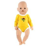 Боди желтое для куклы Беби Бон 38-43 см, фото 1