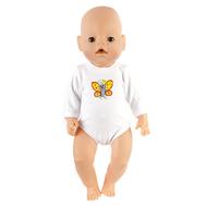 Боди белое для куклы Беби Бон 38-43 см, фото 1