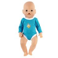 Боди синее для куклы Беби Бон 38-43 см, фото 1