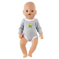 Боди серое для куклы Беби Бон 38-43 см, фото 1