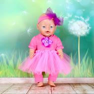 """Набор одежды """"Красотка в розовом"""" платье, штанишки, повязка для куклы Беби Бон 43 см., фото 1"""