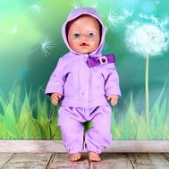 """Набор одежды фиолетовый  """"Толстовка с капюшоном, штаны"""" для куклы Беби Бон 43 см, фото 1"""