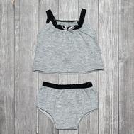 """Набор одежды серый """"Майка и трусики"""" для куклы Беби Бон 38-43 см, фото 1"""