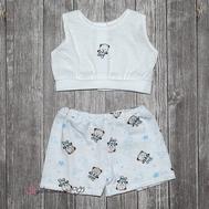 "Набор одежды белый ""Майка и шорты"" для куклы Беби Бон 38-43 см, фото 1"