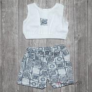 "Набор одежды серый ""Майка и шорты"" для куклы Беби Бон 38-43 см, фото 1"
