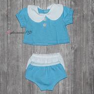 """Набор одежды голубой """"Кофта, двое трусов"""" для куклы Беби Бон 38-43 см, фото 1"""