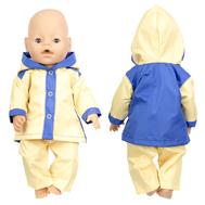 Набор Демисезонный одежды желто-синий, куртка с капюшоном, штанишки для куклы Беби Бон 38-43 см., фото 1