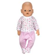 Набор одежды розовый, ползунки и кофта для куклы Беби Бон 38-43 см, фото 1