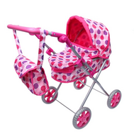Коляска зимняя с сумкой для куколы Беби Бон, розово-фиолетовая, фото 1