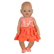 Платье с  кружевными балетками для куклы Беби Бон 38-43 см, фото 1