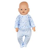 Набор одежды голубой распашонка и ползунки для куклы Беби Бон 38-43 см, фото 1