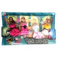 """Набор одежды для куклы Барби """"4 платья, обувь, 2 сумочки, очки, ожерелье"""", фото 1"""