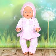 """Набор одежды для сна """"Кофточка, штанишки, чепчик"""" для куклы Беби Бон 43 см., фото 1"""