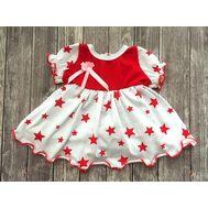 Платье бело-красное для куклы Беби Бон 38-43 см, фото 1