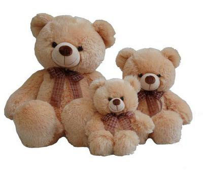 AURORA Игрушка мягкая Медведь медовый с бантом 69см (30-249), фото 1